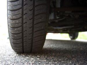 Tire Tread on Road