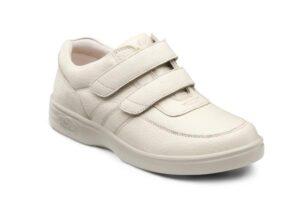 White orthopaedic shoe with velcro closure